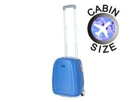 """Mała walizka """"MINI"""" PUCCINI ABS01 D niebieska"""