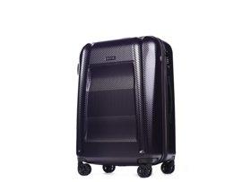 Średnia walizka PUCCINI PC017 B fioletowa