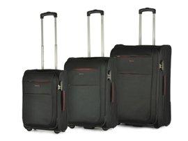Zestaw trzech walizek PUCCINI EM-50307 ABC czarny
